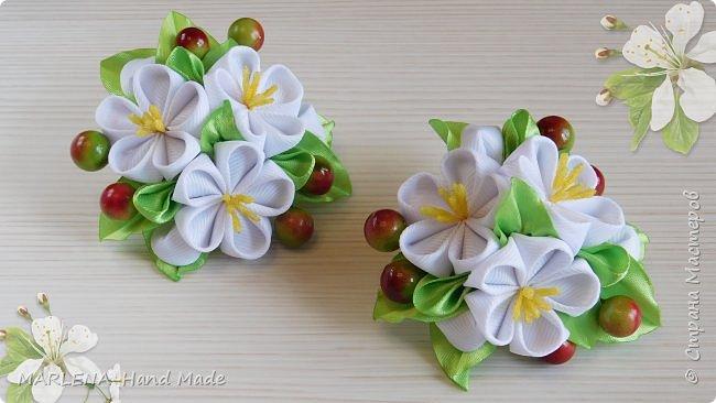 """Резиночки """"Весенний сад"""". Цветы вишни  фото 1"""