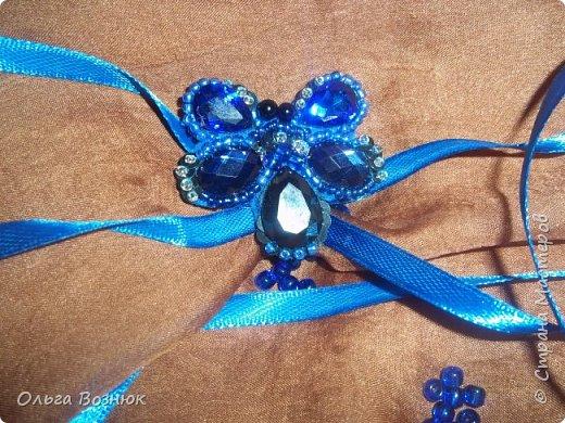 Синя бабочка (брошь) фото 1