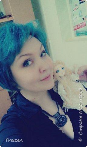 Эта куколка создавалась на заказ как подарок на День рождения радио-коллеге Ксюше Любимовой).  По словам заказчицы, получилось именно то, что она хотела, это меня конечно очень радует и вдохновляет)  фото 5