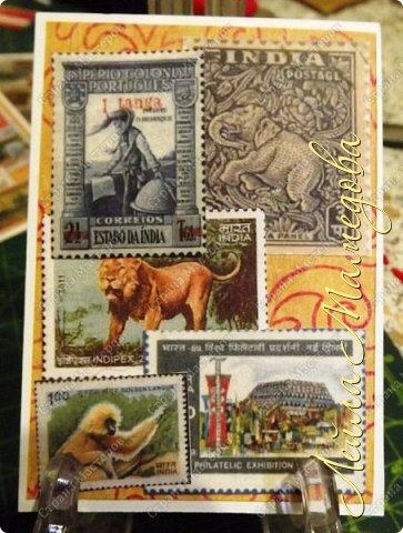 """Девочки, добрый день ! Отгадайте загадку : что путешествует по всему миру и находится всегда в одном углу? Думайте-думайте! Догадались? Правильно, это почтовая марка!!! А вы представляете сколько марок было посвящено Индии. Немало их и выпускается в самой стане. представляю вам серию """"Индия"""". ОЭ - слон. фото 4"""