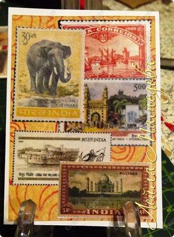 """Девочки, добрый день ! Отгадайте загадку : что путешествует по всему миру и находится всегда в одном углу? Думайте-думайте! Догадались? Правильно, это почтовая марка!!! А вы представляете сколько марок было посвящено Индии. Немало их и выпускается в самой стане. представляю вам серию """"Индия"""". ОЭ - слон. фото 5"""