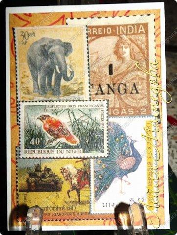"""Девочки, добрый день ! Отгадайте загадку : что путешествует по всему миру и находится всегда в одном углу? Думайте-думайте! Догадались? Правильно, это почтовая марка!!! А вы представляете сколько марок было посвящено Индии. Немало их и выпускается в самой стане. представляю вам серию """"Индия"""". ОЭ - слон. фото 9"""