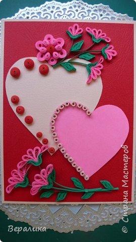 Для трех молодых сестричек сделала на Валентинов день вот такие три открыточки. Подарила и забыла про них. А сегодня случайно нашла их фото. фото 5