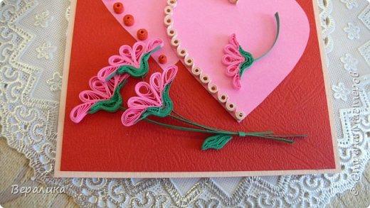 Для трех молодых сестричек сделала на Валентинов день вот такие три открыточки. Подарила и забыла про них. А сегодня случайно нашла их фото. фото 10