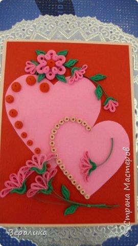 Для трех молодых сестричек сделала на Валентинов день вот такие три открыточки. Подарила и забыла про них. А сегодня случайно нашла их фото. фото 8