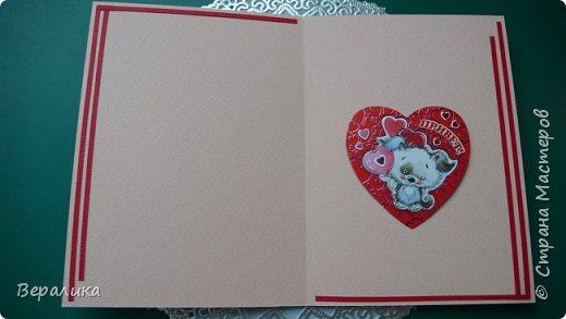 Для трех молодых сестричек сделала на Валентинов день вот такие три открыточки. Подарила и забыла про них. А сегодня случайно нашла их фото. фото 12