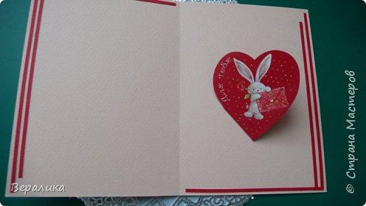 Для трех молодых сестричек сделала на Валентинов день вот такие три открыточки. Подарила и забыла про них. А сегодня случайно нашла их фото. фото 11