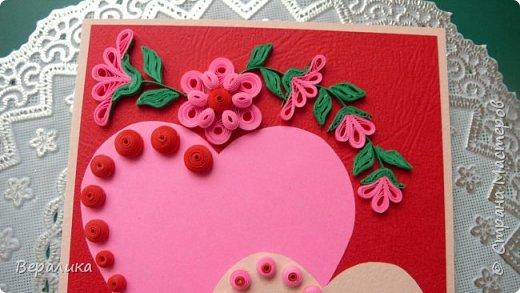 Для трех молодых сестричек сделала на Валентинов день вот такие три открыточки. Подарила и забыла про них. А сегодня случайно нашла их фото. фото 4