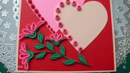 Для трех молодых сестричек сделала на Валентинов день вот такие три открыточки. Подарила и забыла про них. А сегодня случайно нашла их фото. фото 3