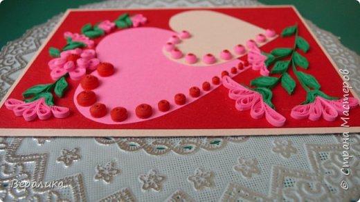 Для трех молодых сестричек сделала на Валентинов день вот такие три открыточки. Подарила и забыла про них. А сегодня случайно нашла их фото. фото 2