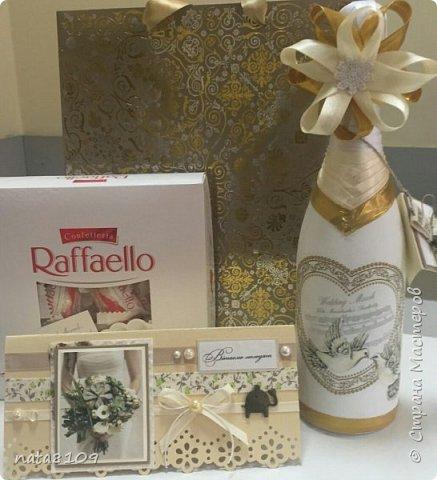 Приветствую вас дорогие друзья!   Подруга попросила оформить бутылочку на свадьбу. Пожеланий особых не было,  делала все на своё усмотрение.  фото 4