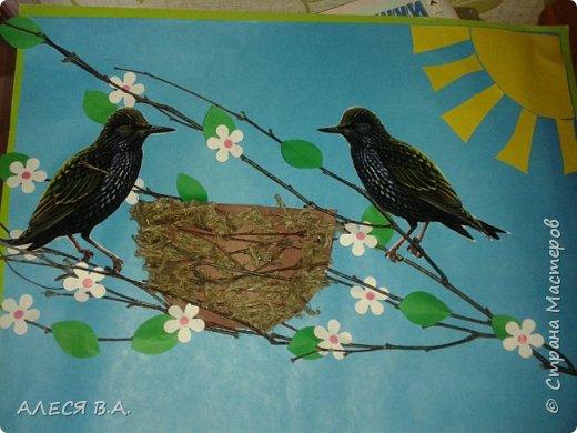 Разные поделочки))  Такую аппликацию, мы сделали в детский сад! ( на тему весна) фото 1