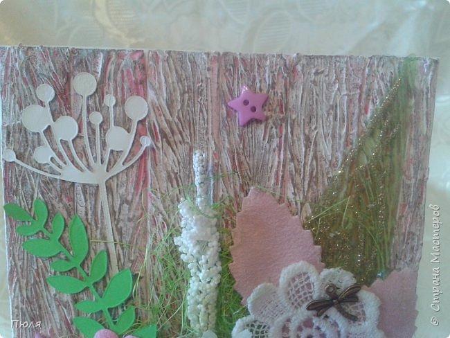 Здравствуйте, уважаемые жители Страны мастеров! Сегодня я с открыткой для мамы, у нее 1 мая день рождение.  фото 2