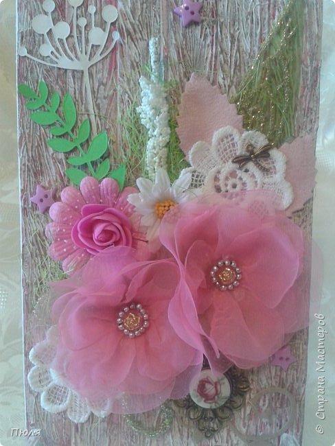 Здравствуйте, уважаемые жители Страны мастеров! Сегодня я с открыткой для мамы, у нее 1 мая день рождение.  фото 4