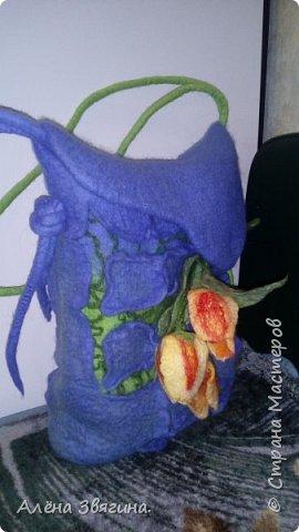 Валяния сумка ,,тюльпаны,, фото 6