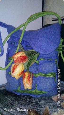 Валяния сумка ,,тюльпаны,, фото 5