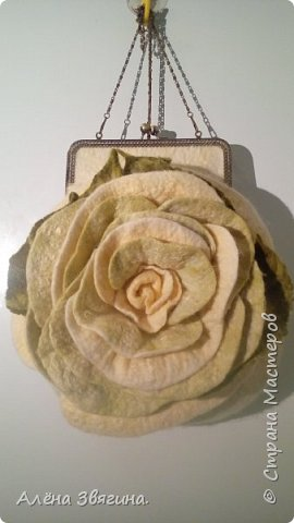 Войлочные сумки на фермуаре ,,Роза,, фото 1