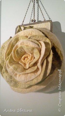Войлочные сумки на фермуаре ,,Роза,, фото 2