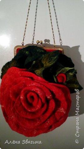 Войлочные сумки на фермуаре ,,Роза,, фото 6
