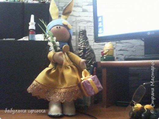 """Здравствуйте! Представляю новую куклеху """"Зая"""".Еще пока босая но уже будет скоро полностью готова! фото 3"""