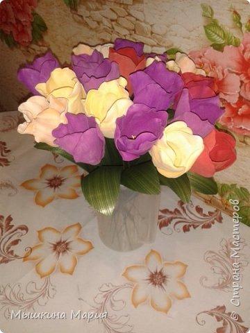 Букет тюльпанов к Пасхе.