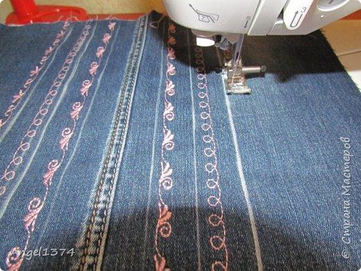 Как сшить рюкзак из джинсов фото 4