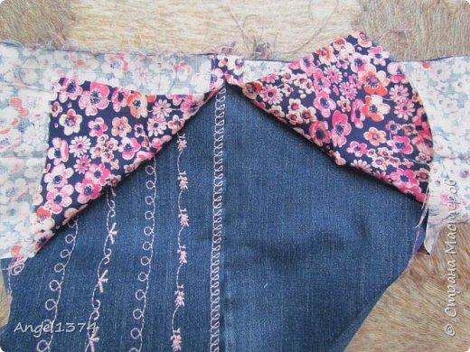 Как сшить рюкзак из джинсов фото 5