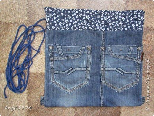 Как сшить рюкзак из джинсов фото 10
