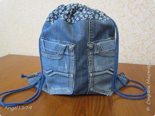 Как сшить рюкзак из джинсов фото 11