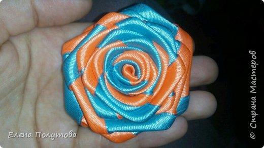 Роза из капроновой ленты №1 фото 9