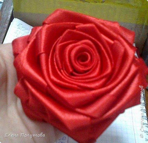 Роза из капроновой ленты №1 фото 3