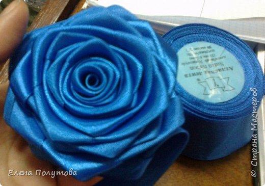 Роза из капроновой ленты №1 фото 4