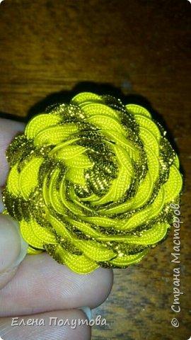 Роза из капроновой ленты №1 фото 7