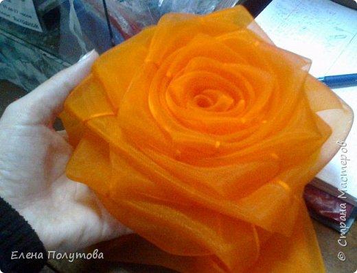 Роза из капроновой ленты №1 фото 2