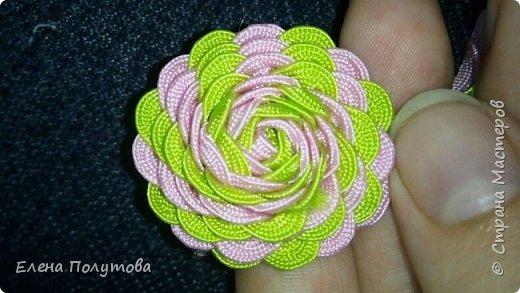 Роза из капроновой ленты №1 фото 6