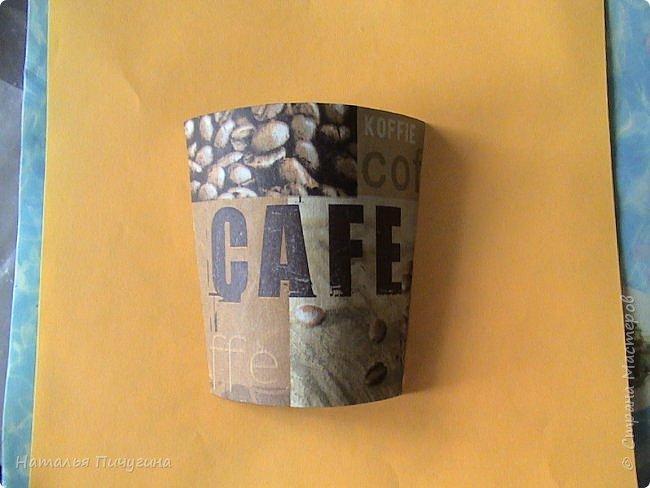 Всем доброе время суток!  Кофейная тема стала моей любимой! Спасибо Наташе за саму идею таких панно http://stranamasterov.ru/user/118439 , но чашку я смастерила по-своему  (не кофе обклеивала, а декупаж сделала). Размер панно 28  х  28 см. фото 7