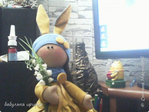 """Здравствуйте! Представляю новую куклеху """"Зая"""".Еще пока босая но уже будет скоро полностью готова! фото 4"""
