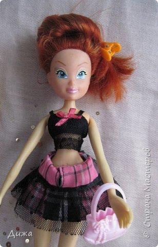 Привет всем! Сегодня я хочу показать вам моих кукол Винкс . Когда мне было 5 лет я очень увлеклась этими куклами.  Смотрела про них мультфильмы, у меня была кепка (до сих пор есть, кстати), ручка, наклейки, пододеяльник, блокноты, журналы - в общем была страшной фанаткой.  Родители удивлялись и смеялись... :-) А сейчас, славо богу, фанатизм прошел. В кукол, я особо не люблю играть, больше всего нравиться читать и делать разные поделки, но иногда достаю поиграть.   Это Блум фея огня дракона Ей красный цвет очень идет фото 11