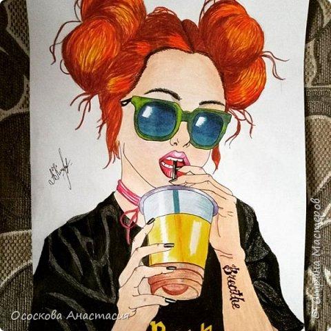 Красивый рисунок девушки фото 3
