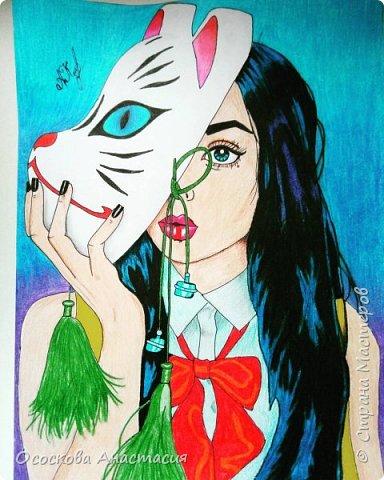 Красивый рисунок девушки фото 1