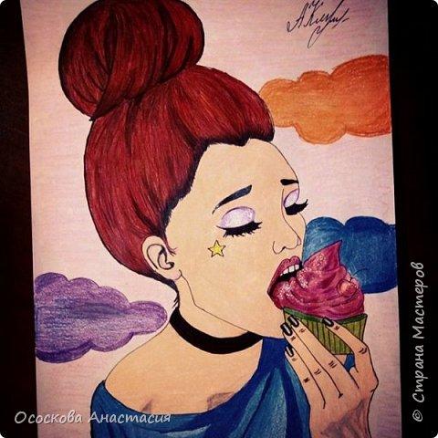 Красивый рисунок девушки фото 2