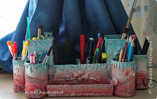 органайзер из различных коробочек и картонных рулончиков для любимой доченьки фото 3