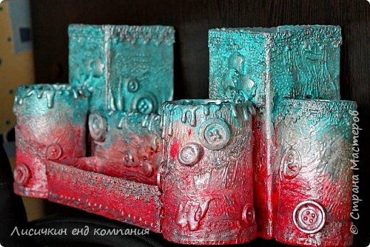 органайзер из различных коробочек и картонных рулончиков для любимой доченьки фото 2