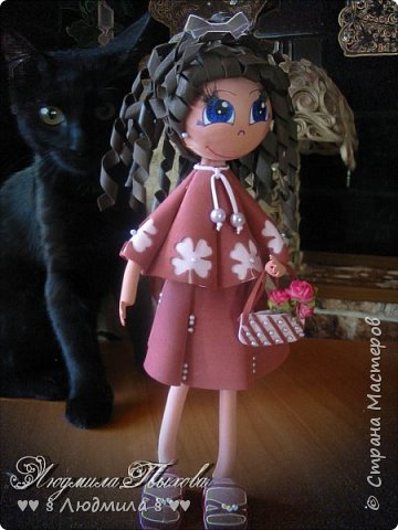Всем  спасибо, что зашли ко мне в гости! Бабушка Люда, впала  в детство и делает кукол! Ну вот так вот! Самирка и Оська модели.  фото 3