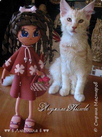 Всем  спасибо, что зашли ко мне в гости! Бабушка Люда, впала  в детство и делает кукол! Ну вот так вот! Самирка и Оська модели.  фото 1