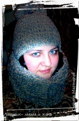 Комплект шапка и шарфик фото 2