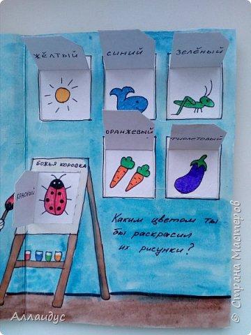 Увидела данную книгу на книжном сайте Лабиринт, автор Люси Казенс. Решила сделать повторюшку. Дочке очень нравится открывать окошки. Книг сделана из картона, заламинировала скотчем. фото 7