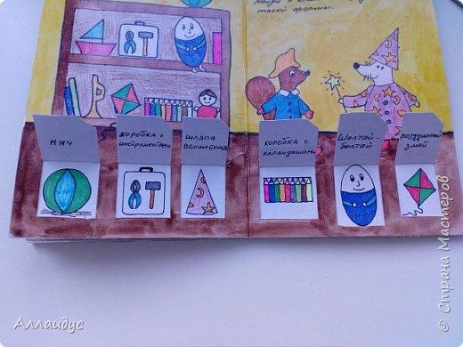 Увидела данную книгу на книжном сайте Лабиринт, автор Люси Казенс. Решила сделать повторюшку. Дочке очень нравится открывать окошки. Книг сделана из картона, заламинировала скотчем. фото 9