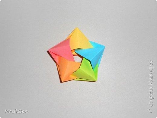 Объемная звезда из бумаги. Поделки оригами к 9 мая, 23 февраля