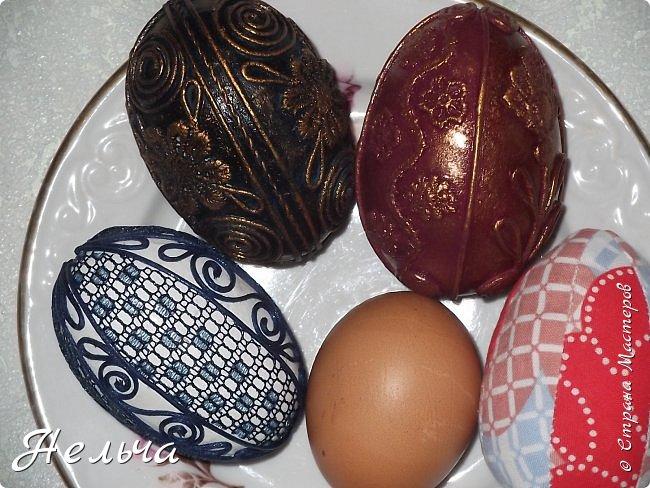 """Еще до Пасхи сделала 6 яичек-заготовочек, а украсить всё некогда было. Сегодня только третье """"добила"""". Выставляю на показ. Ёще три яйца осталось, но их доделаю не скоро.  фото 12"""